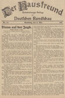 Der Hausfreund : Unterhaltungs-Beilage zur Deutschen Rundschau. 1935, Nr. 118 (23 Mai)