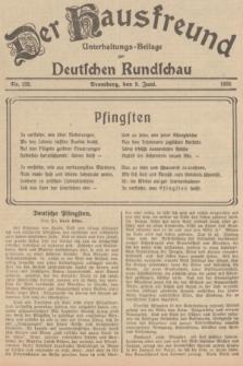 Der Hausfreund : Unterhaltungs-Beilage zur Deutschen Rundschau. 1935, Nr. 132 (9 Juni)