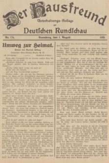 Der Hausfreund : Unterhaltungs-Beilage zur Deutschen Rundschau. 1935, Nr. 174 (1 August)