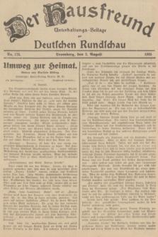 Der Hausfreund : Unterhaltungs-Beilage zur Deutschen Rundschau. 1935, Nr. 175 (2 August)