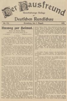 Der Hausfreund : Unterhaltungs-Beilage zur Deutschen Rundschau. 1935, Nr. 176 (3 August)