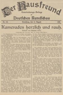Der Hausfreund : Unterhaltungs-Beilage zur Deutschen Rundschau. 1935, Nr. 184 (13 August)