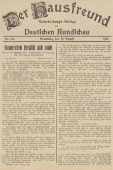 Der Hausfreund : Unterhaltungs-Beilage zur Deutschen Rundschau. 1935, Nr. 189 (20 August)
