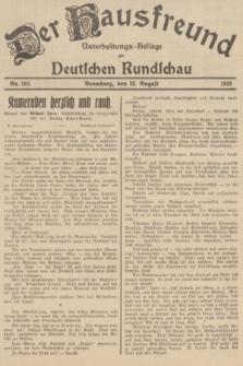 Der Hausfreund : Unterhaltungs-Beilage zur Deutschen Rundschau. 1935, Nr. 192 (23 August)