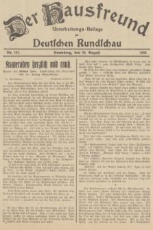 Der Hausfreund : Unterhaltungs-Beilage zur Deutschen Rundschau. 1935, Nr. 197 (29 August)