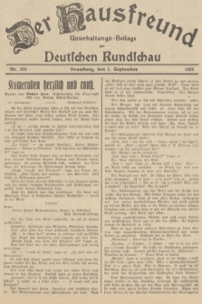Der Hausfreund : Unterhaltungs-Beilage zur Deutschen Rundschau. 1935, Nr. 203 (5 September)