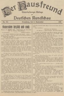 Der Hausfreund : Unterhaltungs-Beilage zur Deutschen Rundschau. 1935, Nr. 204 (6 September)