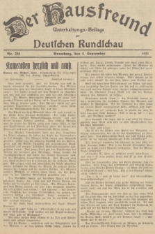 Der Hausfreund : Unterhaltungs-Beilage zur Deutschen Rundschau. 1935, Nr. 206 (8 September)