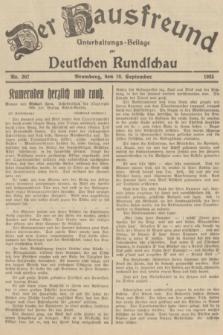 Der Hausfreund : Unterhaltungs-Beilage zur Deutschen Rundschau. 1935, Nr. 207 (10 September)