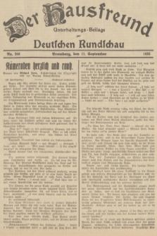 Der Hausfreund : Unterhaltungs-Beilage zur Deutschen Rundschau. 1935, Nr. 208 (11 September)