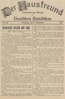 Der Hausfreund : Unterhaltungs-Beilage zur Deutschen Rundschau. 1935, Nr. 209 (12 September)