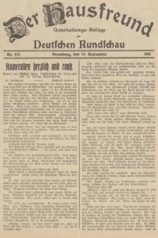 Der Hausfreund : Unterhaltungs-Beilage zur Deutschen Rundschau. 1935, Nr. 210 (13 September)