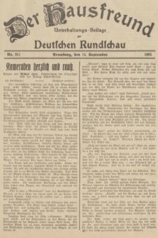 Der Hausfreund : Unterhaltungs-Beilage zur Deutschen Rundschau. 1935, Nr. 211 (14 September)