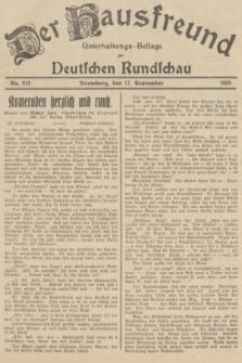 Der Hausfreund : Unterhaltungs-Beilage zur Deutschen Rundschau. 1935, Nr. 213 (17 September)