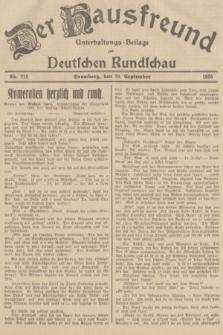 Der Hausfreund : Unterhaltungs-Beilage zur Deutschen Rundschau. 1935, Nr. 215 (19 September)