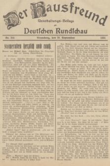 Der Hausfreund : Unterhaltungs-Beilage zur Deutschen Rundschau. 1935, Nr. 216 (20 September)
