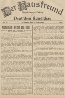 Der Hausfreund : Unterhaltungs-Beilage zur Deutschen Rundschau. 1935, Nr. 217 (21 September)