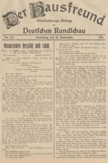 Der Hausfreund : Unterhaltungs-Beilage zur Deutschen Rundschau. 1935, Nr. 218 (22 September)