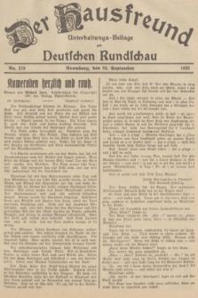 Der Hausfreund : Unterhaltungs-Beilage zur Deutschen Rundschau. 1935, Nr. 219 (24 September)