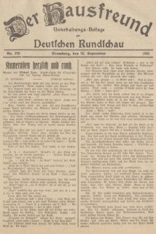 Der Hausfreund : Unterhaltungs-Beilage zur Deutschen Rundschau. 1935, Nr. 220 (25 September)