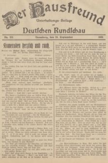 Der Hausfreund : Unterhaltungs-Beilage zur Deutschen Rundschau. 1935, Nr. 221 (26 September)