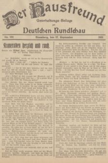 Der Hausfreund : Unterhaltungs-Beilage zur Deutschen Rundschau. 1935, Nr. 222 (27 September)