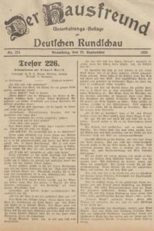 Der Hausfreund : Unterhaltungs-Beilage zur Deutschen Rundschau. 1935, Nr. 224 (29 September)