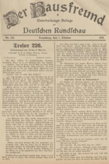 Der Hausfreund : Unterhaltungs-Beilage zur Deutschen Rundschau. 1935, Nr. 225 (1 Oktober)