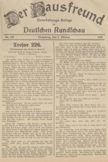 Der Hausfreund : Unterhaltungs-Beilage zur Deutschen Rundschau. 1935, Nr. 226 (2 Oktober)
