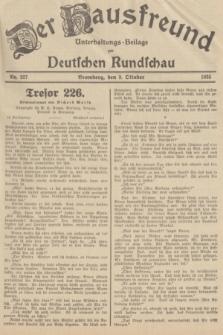 Der Hausfreund : Unterhaltungs-Beilage zur Deutschen Rundschau. 1935, Nr. 227 (3 Oktober)