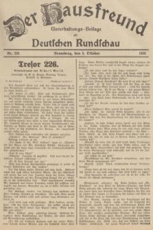 Der Hausfreund : Unterhaltungs-Beilage zur Deutschen Rundschau. 1935, Nr. 229 (5 Oktober)