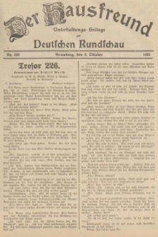Der Hausfreund : Unterhaltungs-Beilage zur Deutschen Rundschau. 1935, Nr. 230 (6 Oktober)