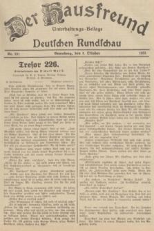 Der Hausfreund : Unterhaltungs-Beilage zur Deutschen Rundschau. 1935, Nr. 231 (8 Oktober)