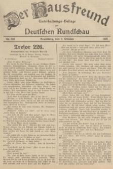 Der Hausfreund : Unterhaltungs-Beilage zur Deutschen Rundschau. 1935, Nr. 232 (9 Oktober)