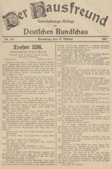 Der Hausfreund : Unterhaltungs-Beilage zur Deutschen Rundschau. 1935, Nr. 233 (10 Oktober)
