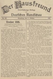 Der Hausfreund : Unterhaltungs-Beilage zur Deutschen Rundschau. 1935, Nr. 234 (11 Oktober)