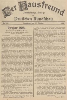 Der Hausfreund : Unterhaltungs-Beilage zur Deutschen Rundschau. 1935, Nr. 235 (12 Oktober)