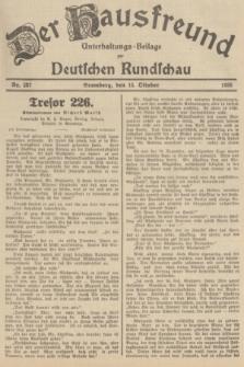 Der Hausfreund : Unterhaltungs-Beilage zur Deutschen Rundschau. 1935, Nr. 237 (15 Oktober)