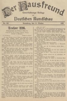 Der Hausfreund : Unterhaltungs-Beilage zur Deutschen Rundschau. 1935, Nr. 238 (16 Oktober)