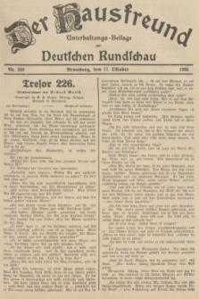 Der Hausfreund : Unterhaltungs-Beilage zur Deutschen Rundschau. 1935, Nr. 239 (17 Oktober)
