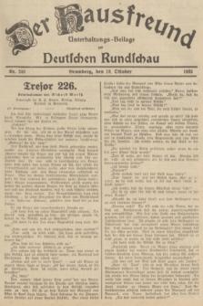 Der Hausfreund : Unterhaltungs-Beilage zur Deutschen Rundschau. 1935, Nr. 240 (18 Oktober)