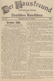 Der Hausfreund : Unterhaltungs-Beilage zur Deutschen Rundschau. 1935, Nr. 241 (19 Oktober)