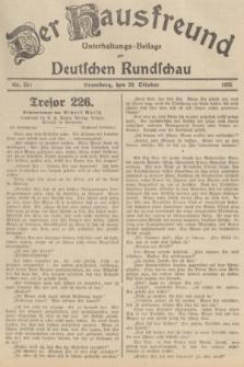 Der Hausfreund : Unterhaltungs-Beilage zur Deutschen Rundschau. 1935, Nr. 242 (20 Oktober)
