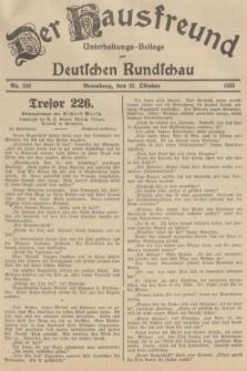 Der Hausfreund : Unterhaltungs-Beilage zur Deutschen Rundschau. 1935, Nr. 246 (25 Oktober)