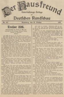 Der Hausfreund : Unterhaltungs-Beilage zur Deutschen Rundschau. 1935, Nr. 247 (26 Oktober)