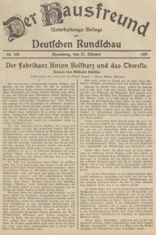 Der Hausfreund : Unterhaltungs-Beilage zur Deutschen Rundschau. 1935, Nr. 248 (27 Oktober)