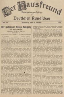 Der Hausfreund : Unterhaltungs-Beilage zur Deutschen Rundschau. 1935, Nr. 249 (29 Oktober)