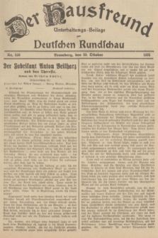 Der Hausfreund : Unterhaltungs-Beilage zur Deutschen Rundschau. 1935, Nr. 250 (30 Oktober)