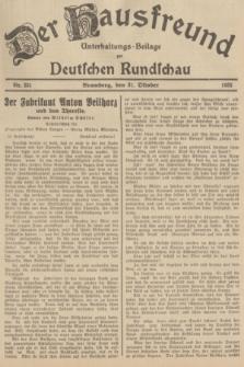 Der Hausfreund : Unterhaltungs-Beilage zur Deutschen Rundschau. 1935, Nr. 251 (31 Oktober)