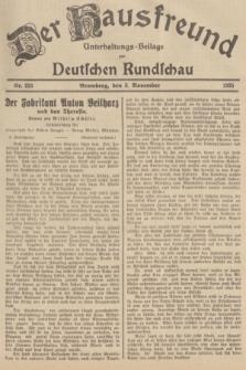 Der Hausfreund : Unterhaltungs-Beilage zur Deutschen Rundschau. 1935, Nr. 253 (3 November)
